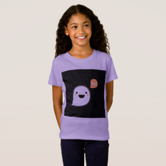 Kids purple TSHIRT WITH BOO GHOST character