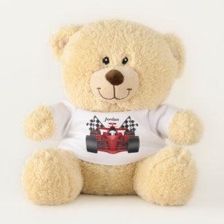 Kid's Race Car Checkered Flag Teddy Bear