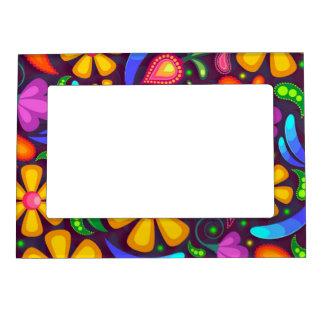 Kids rainbow color abstract magnetic frame