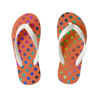 Kids rainbow sparkles printed designer Flip Flops Thongs