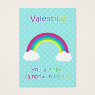 Kids Rainbow Valentine Cards