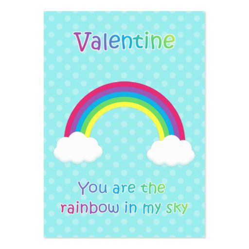 Kids Rainbow Valentine Cards Business Cards