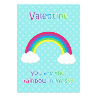 Kids Rainbow Valentine Cards Pack Of Chubby Business Cards