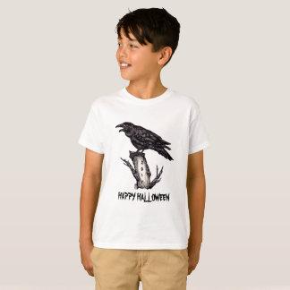 Kids' Raven Happy Halloween T Shirt Personalized