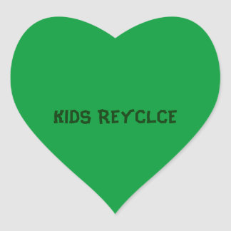 KIDS RECYCLE HEART STICKER