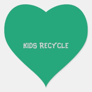 KIDS RECYCLE HEART STICKER