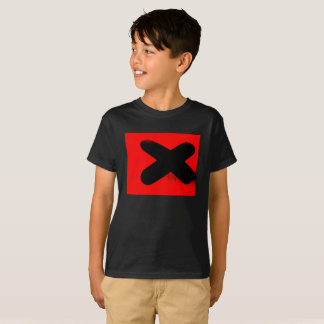 Kids Red and Black Graphic T-Shirt