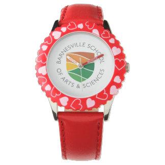 Kids' Red Barnesville Logo Watch