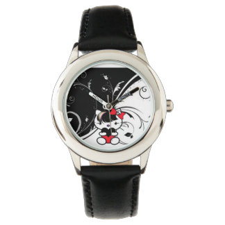 Kids Red Emo Kitty Watch