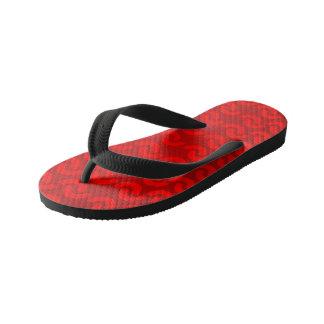 Kids red printed designer Flip Flops Thongs