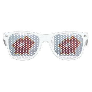 Kids Retro Party Shades, White Kids Sunglasses