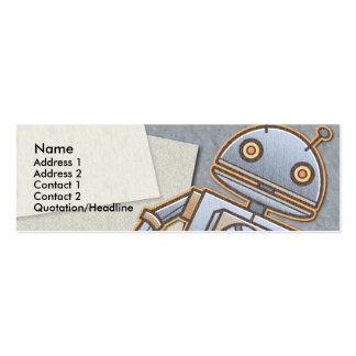 Kids Retro Rocket Skinny Profile Cards Double-Sided Mini Business Cards (Pack Of 20)