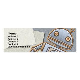 Kids Retro Rocket Skinny Profile Cards Business Cards