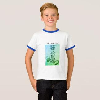KIDS' RINGER T-SHIRT - CARTOON CHEETAH