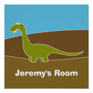 Kids Room Cartoon Dino Poster