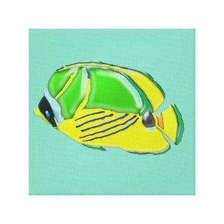 Kids' Room Cartoon Tropical Fish Canvas Print