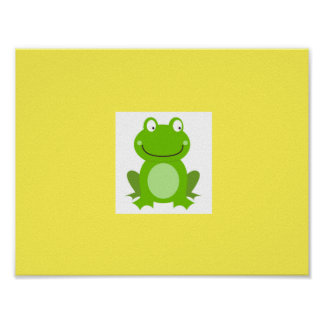 Kids room hand-drawn Poster with Frog