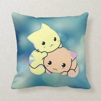 Kids room pillows - kitty cuddle