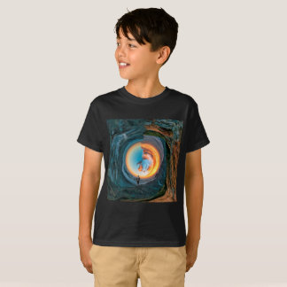 Kids Rounded style Sun Set  T-shirt