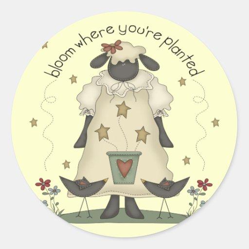 Kids Sheep T Shirts and Gifts Round Sticker