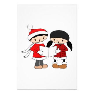 Kids Singing Christmas Carols Invite
