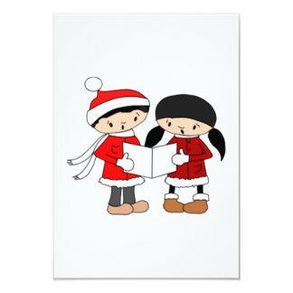 Kids Singing Christmas Carols 9 Cm X 13 Cm Invitation Card