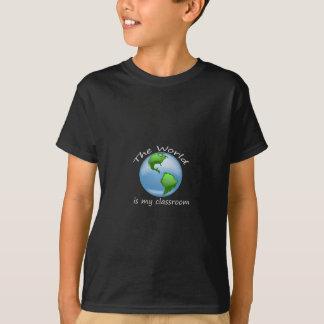 Kids Size World is Classroom Dark Shirt Design