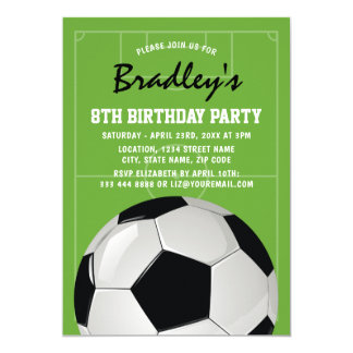 Kids Soccer Birthday Party | Blue Jersey Card