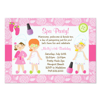 Kids Spa Birthday Party Invitation