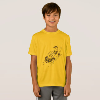 KIDS' SPORT-TEK T-SHIRT - DRIVING A SPORTS CAR