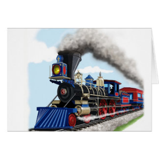 kids steam train card