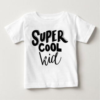 Kids Super Cool Kid White Top