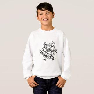 Kids' SweatShirt-Black and White Design Sweatshirt
