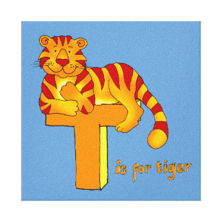 Kids T is for Tiger Gallery Wrap Canvas