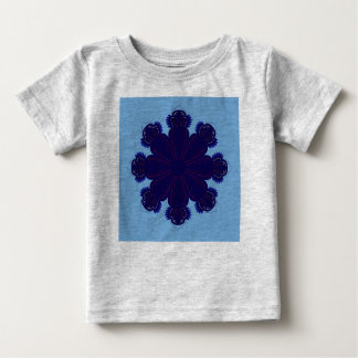 Kids t-shir grey with Blue mandala Baby T-Shirt