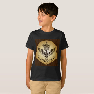 Kids T-Shirt Eagle Black Boy The crown of the king