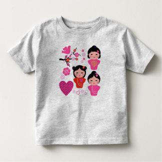 Kids t-shirt geishas pink
