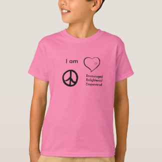 kids t-shirt peace, love