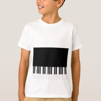 Kids T-Shirt - Piano Keyboard black white
