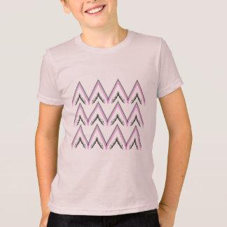 Kids t-shirt pink with Zig zag Stripes