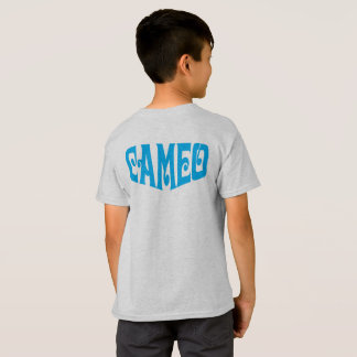 Kids T-shirt with Blue Cameo Logo