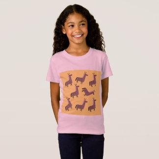 Kids t-shirt with lamas sweet