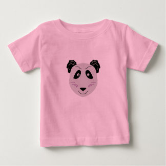 Kids t-shirt with Little cute Panda greyblack