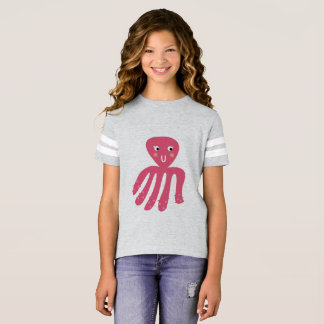 Kids t-shirt with pink octopus