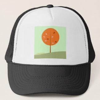 Kids t-shirt with Tree orange Trucker Hat