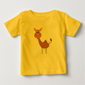 KIDS T-SHIRT YELLOW WITH CAMEL BROWN