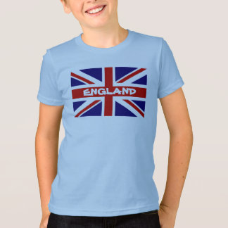 Kid's T Shirts with English Union Jack flag