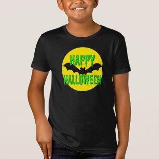 """Kid's Tee Shirt - Organic - """"Happy Halloween"""" Bat"""