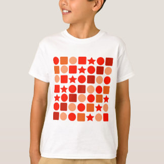 Kid's Tee Shirt with Orange Geometrics
