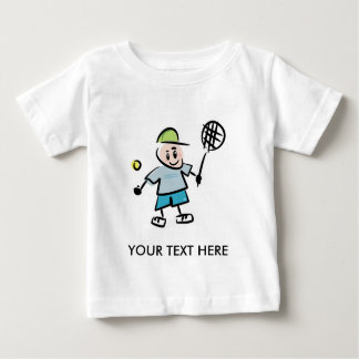 Kids Tennis Tee Shirt with cartoon tennis player